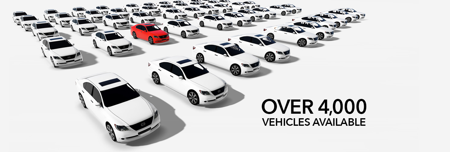 Over 4000 vehicles available